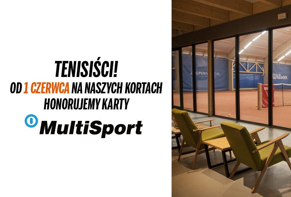 Korty tenisowe z kartą Multisport!